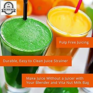"Best Nut Milk Bag ~ Reusable 12"" x 10"" IDEAL SIZE - Fine Mesh Strainer for Almond Milk, Cold Brew Coffee, Juice & Yogurt. BONUS Recipe E-Book. Performs Better Than Cheaper Brands!"