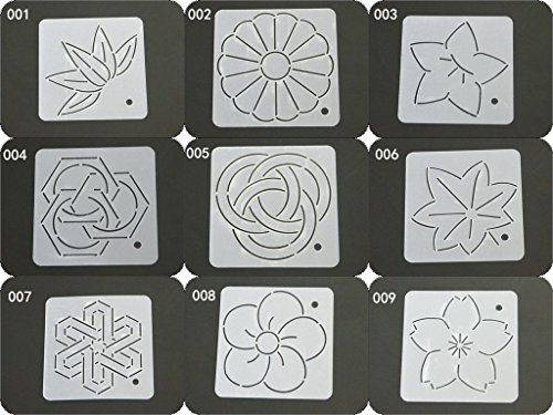 HONEYSEW Semi-transparent Quilting Template Patchwork Tools Quilt Handmade DIY Sewing Tool Leaf Pattern (9pcs total)