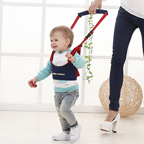 Fashion Month Baby Portable Walker Harness Toddler Infant Kid Help Learn Teach Cotton Breathable Walking Assistant Walk Safety Blue