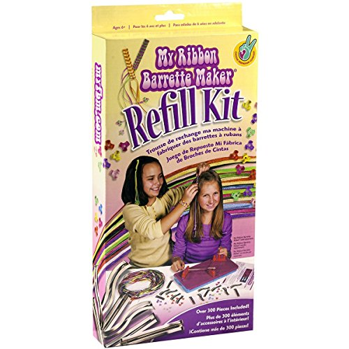Choose Friendship, My Ribbon Barrette Maker Refill Kit, Hair Accessories Kit for Girls, Over 300 Pieces ()