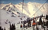 Wasatch Mountains - Germania Ski Lift Alta, Utah Original Vintage Postcard