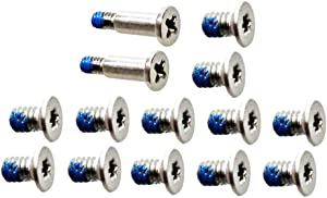 GinTai 12pcs Bottom Cover & 2pcs Nameplate Screws Replacement for Dell XPS 13 9343 9350 9360