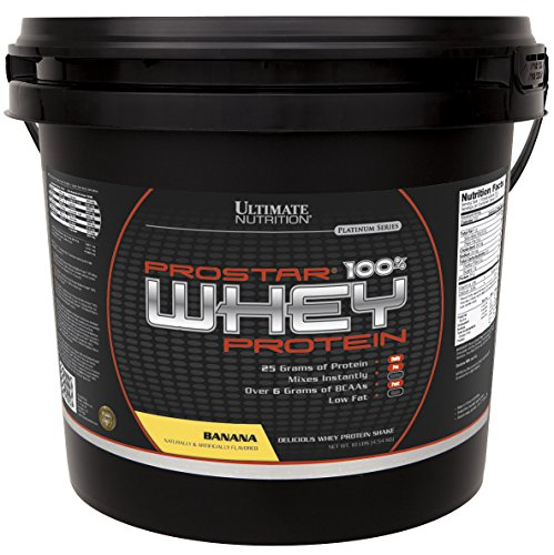 Ultimate Nutrition Prostar 100% Whey Protein, Banana, 10 Pound