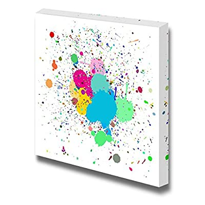 Colorful Ink Splash Drips on a for Background Use Home Deoration Wall Decor, Crafted to Perfection, Lovely Work of Art