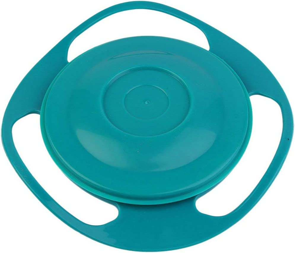 360 Degree Rotation Baby Feeding Dishes Unique Spill-Proof Dishes Childrens Baby Tableware Baby Gyro Bowls Toys-Multi-Color Mixed BCVBFGCXVB