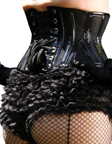 """What Katie Did L4081 Lalique Baby PVC Black Underbust Corset 30"""" Waist Black"""