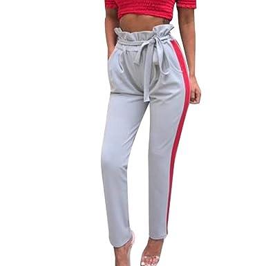 Femme Pantalons Pantalon De Loisirs Pantalons Crayon Pants Elégante Jeune  Mode Slim Fit Pantalon Sport Pantalon Ete Taille Haute Aéré avec Ceinture  Spécial ... 9f7de1db6d87