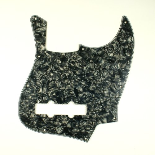 D22-3-Ply-Guitar-Pickguard-Fits-Jazz-Bass-JB-Style-Pearl-Black