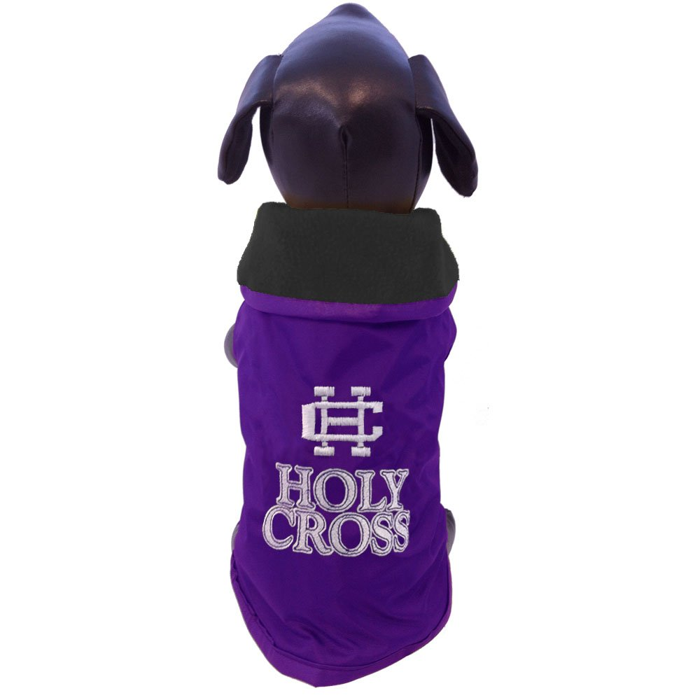 All Star Dogs Holy Cross Crusaders All Weather-Resistant Predective Dog Outerwear, Large