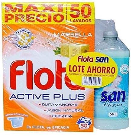 Flota Detergente Marsella 50 Dosis + San Suavizante Bienestar 60 ...