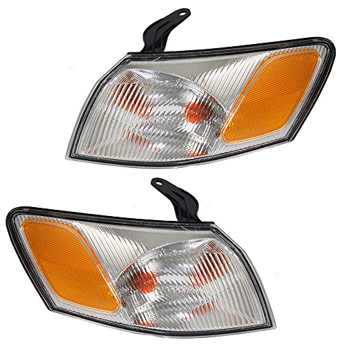 Park Signal Corner Marker Lights Lamps Lenses Driver and Passenger Replacements for 97-99 Toyota Camry 81520-AA010 81510-AA010
