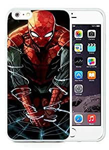 iPhone 6 Plus 5.5 Inch TPU Case ,Unique And Fashionable Designed Case With Spiderman Artwork White For iPhone 6 Plus Cover Phone Case