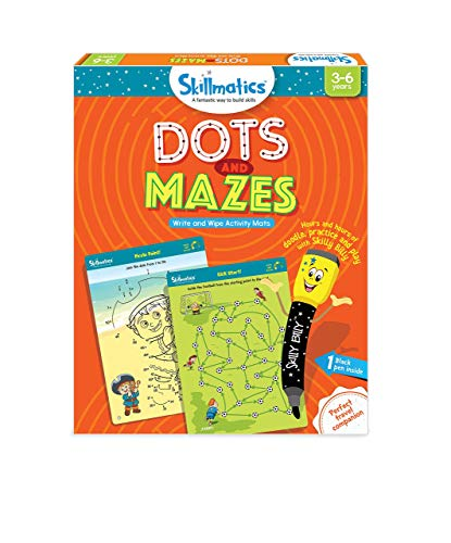 Skillmatics Educational Game: Dots and Mazes (3-6 Years) | Creative Fun Activities for Kids -