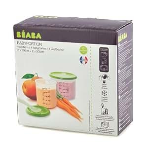 Béaba - 912262 - Coffret de 2 Baby Portions + 2 Maxi Portions