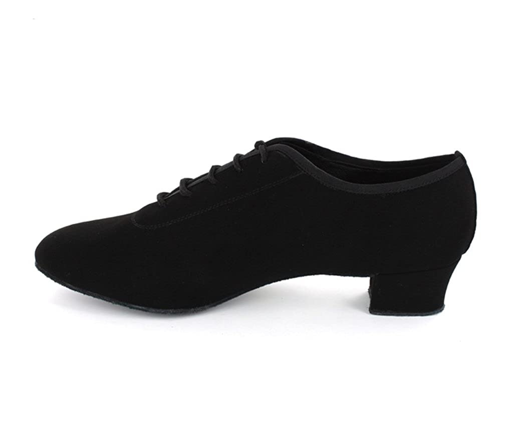MINITOO Mens Solid 1.5 Heel Suede Brallroom Latin Dance Shoes