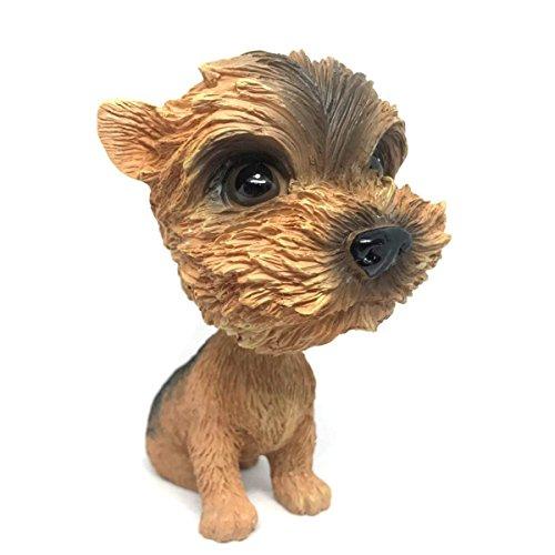 - OZUKO Pug Bobblehead Mini Puppy Dog Figurine Car Dashboard Decoration Nodding Shaking Head Toys for Kids Room (Yorkshire Terrier)