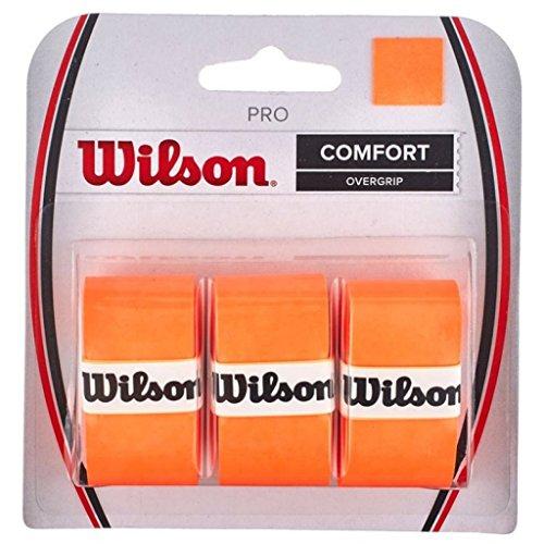 Wilson Pro Overgrip Comfort - 3 pack - Burn Orange (Tennis Racquet Over Grip)
