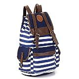 SHENGXILU Unisex Canvas Backpack School Bag Laptop Bag for Teens Girl Boy Student