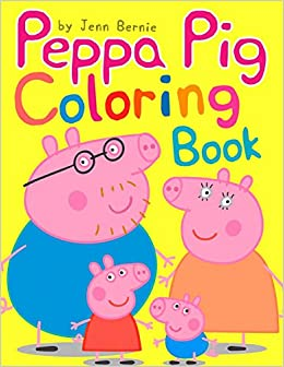 Peppa Pig Coloring Book (Illustrated): 2019 High-quality coloring ...