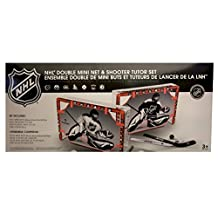 NHL Double Mini Net & Shooter Tutor Set (7 Canadian Teams Special Edition)