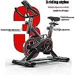 QQLK-Sports-Cyclette-Aerobica-da-Spinning-Allenamento-Indoor-Fitness-Cardio-Spin-Bike-Display-A-Cristalli-Liquidi-A-LED-Regolazione-della-Resistenza-Grande-Volano-Portata-150-kg