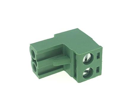 YXQ 30Pcs 300V 10A 5.08mm Pitch 2 Poles PCB Screw Terminal Block Connector AWG12-24