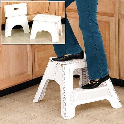NEW LARGE WHITE EASY 17  FOLDING STEPSTOOL FOLD AWAY COLLAPSIBLE 2 STEP STOOL Amazon.co.uk Toys u0026 Games & NEW LARGE WHITE EASY 17