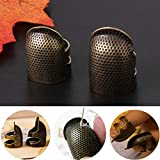 4 Pieces Sewing Thimble, Metal Copper Sewing