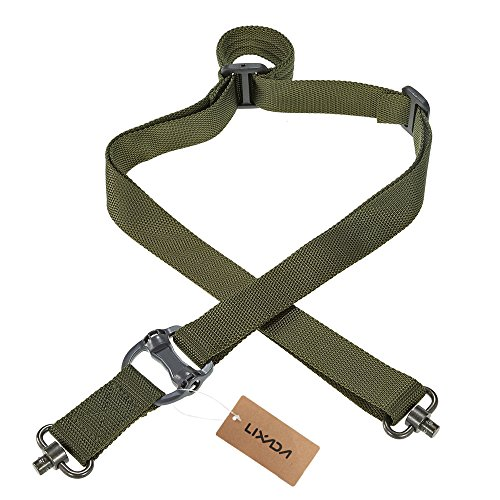 Docooler Lixada Military Tactical Safety Two Points Outdoor Belt QD Series Sling Adjustable Strap