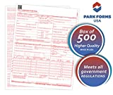 Park Forms HCFA CMS 1500 Claim Forms (Version 02/12), Medical Insurance, 8-1/2'' X 11'' - 500 Sheets