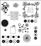 See D's Daisy 14 Rubber Stamps and Case # 50207 Inque Boutique Sugarloaf