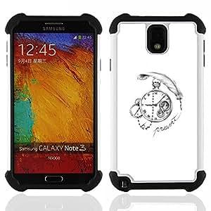 For Samsung Galaxy Note3 N9000 N9008V N9009 - time deep write watch white black Dual Layer caso de Shell HUELGA Impacto pata de cabra con im????genes gr????ficas Steam - Funny Shop -