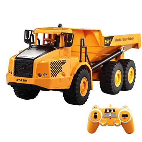 HMANE 1/20 2.4G 4WD RC Articulated Dump Truck Remote Control Construction Model Car Electronic Simulation Engineering Vehicle Toys for Kids Boys