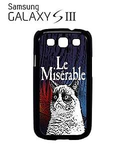 Les Le Miserable Grumpy Cat Mobile Cell Phone Case Samsung Galaxy S3 Black