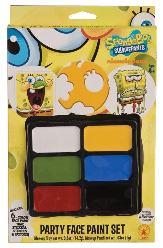 Rubies Spongebob Squarepants Party Face Paint (Spongebob Games Halloween)