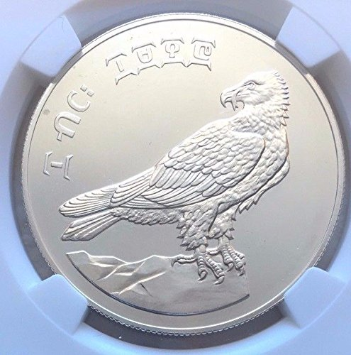 Review 1970 ET Ethiopia 1970 Silver 10 Birr Bearded Vulture Bird coin MS 68 NGC