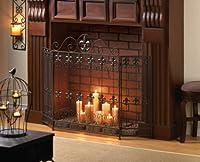 Modern Fireplace Screens Three Panel Bro...