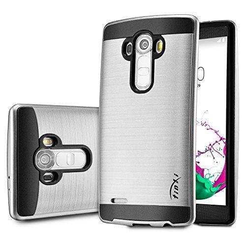 37 opinioni per tinxi® Custodia per LG G4(5,5 Pollici) in PC e TPU Cover spazzolato Case