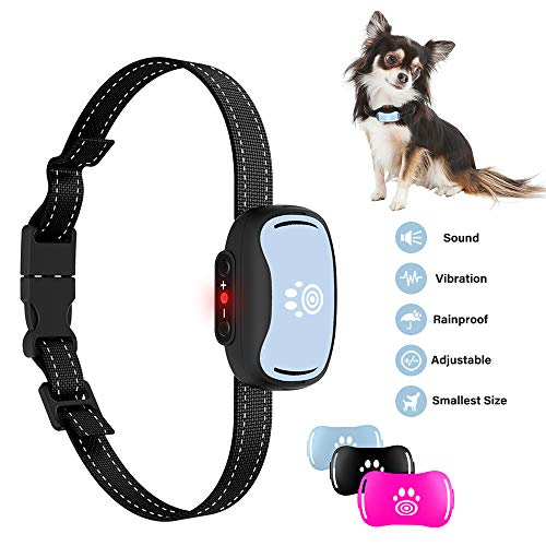 - Pumila 2019 Small Dog Bark Collar,Humane 7-Level Sensitivity Training Collar with Beep,Vibration,No Shock Collar for Small/Medium Dogs,Safe Dog Anti Bark Collar