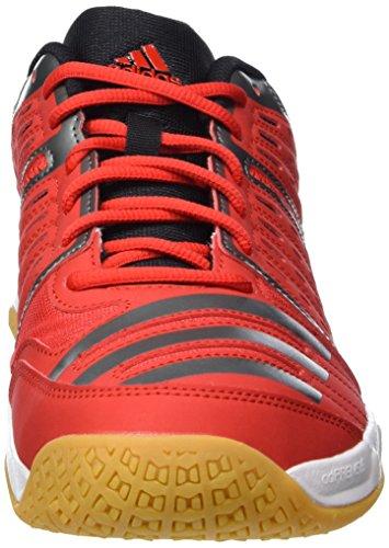 adidas Essence 12, Zapatillas de Balonmano para Hombre, Multicolor Rojo / Negro / Blanco (Rojint / Nocmét / Ftwbla)