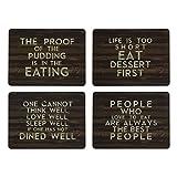 Kitchen Craft Slogan Cork Back Laminated Placemats