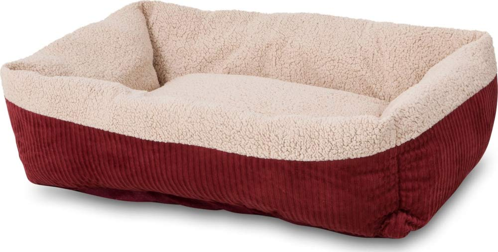 35\ Aspen Pet 80138 Self Warming Rectangular Lounger for Pets, 35 by 27Inch, Warm Spice with Creme