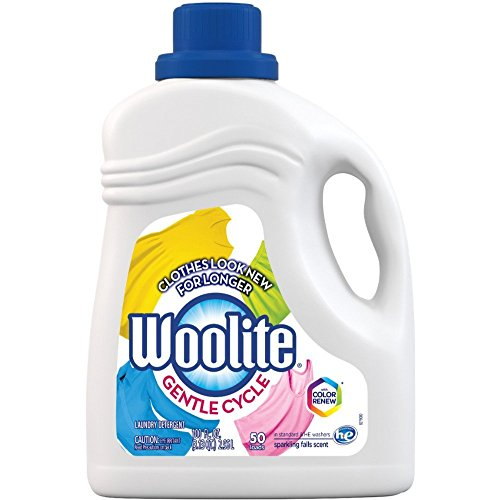 Woolite Gentle Cycle Liquid Laundry Detergent, Sparkling Falls Scent, 100 oz/ 50 loads (Pack of 2)