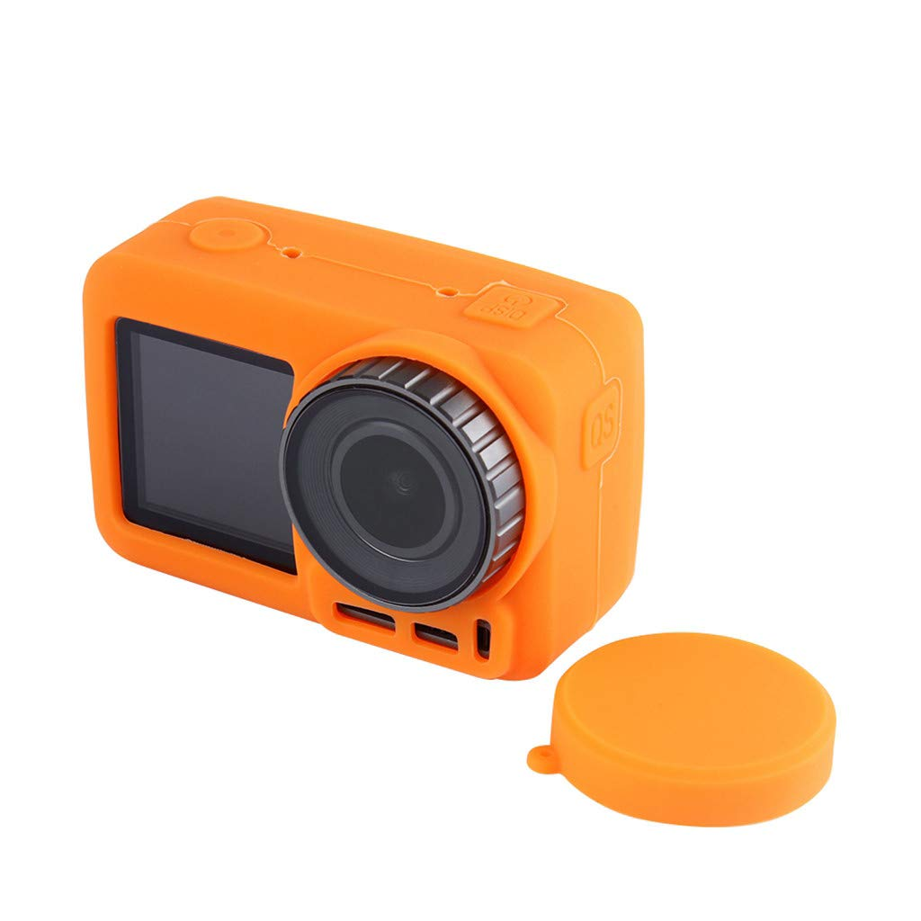 Color : Orange Silicone Protective Lens Cover for DJI New Action Durable