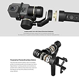 FeiyuTech G5 3-Axis Handheld Gimbal, Adaptable for HERO5 HERO4 SJCam Sports Cams, IP67 Waterproof, Anti-loss Screws, Selfie Ready