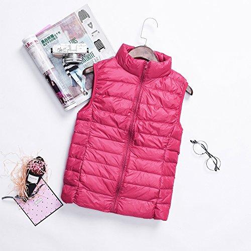 Zipper Outwear XFentech Coat Women Vest Sleeveless Autumn Windproof Winter Jacket Ladies Down Down Pink amp; Waterproof 6zqcw6HrFx
