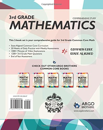 Argo Brothers Math Workbook, Grade 3: Common Core Free Response ...