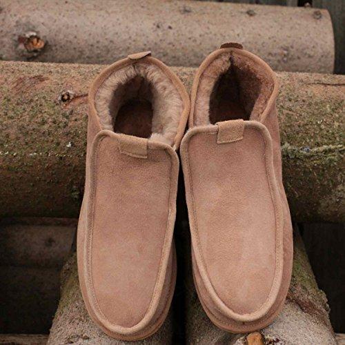 Piel de cordero Zapatillas - HUGO Hombre piel de cordero Marrón