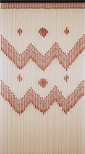 BeadedString  52 Strands Natural Wood Beaded Curtain 77