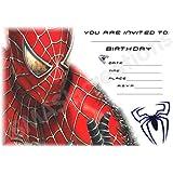 spiderman party invitations 20 sheets envelopes amazon co uk